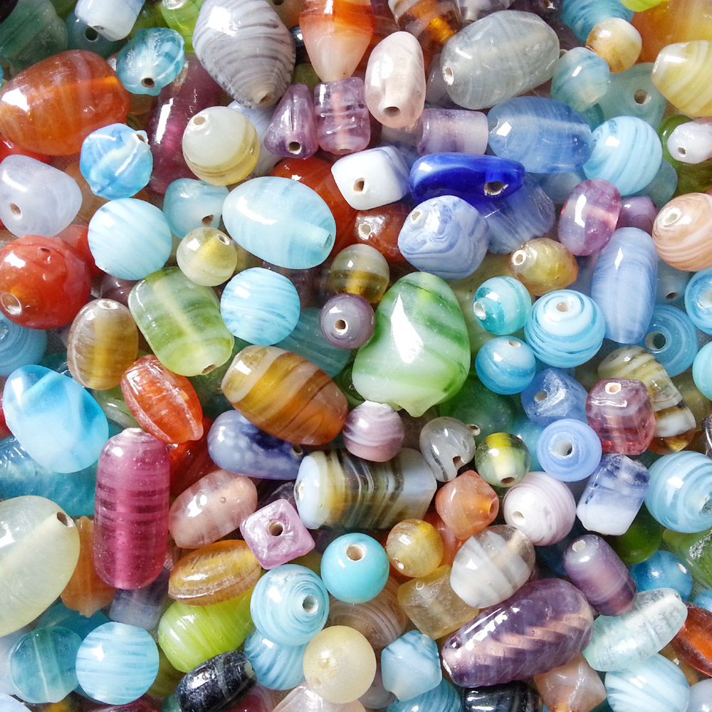 glass beads - double colour swirl mix -16034 x 1KG